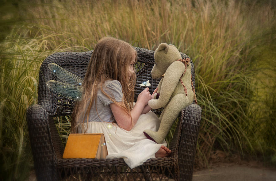 Children Photograph - Make A Wish by Robin-Lee Vieira