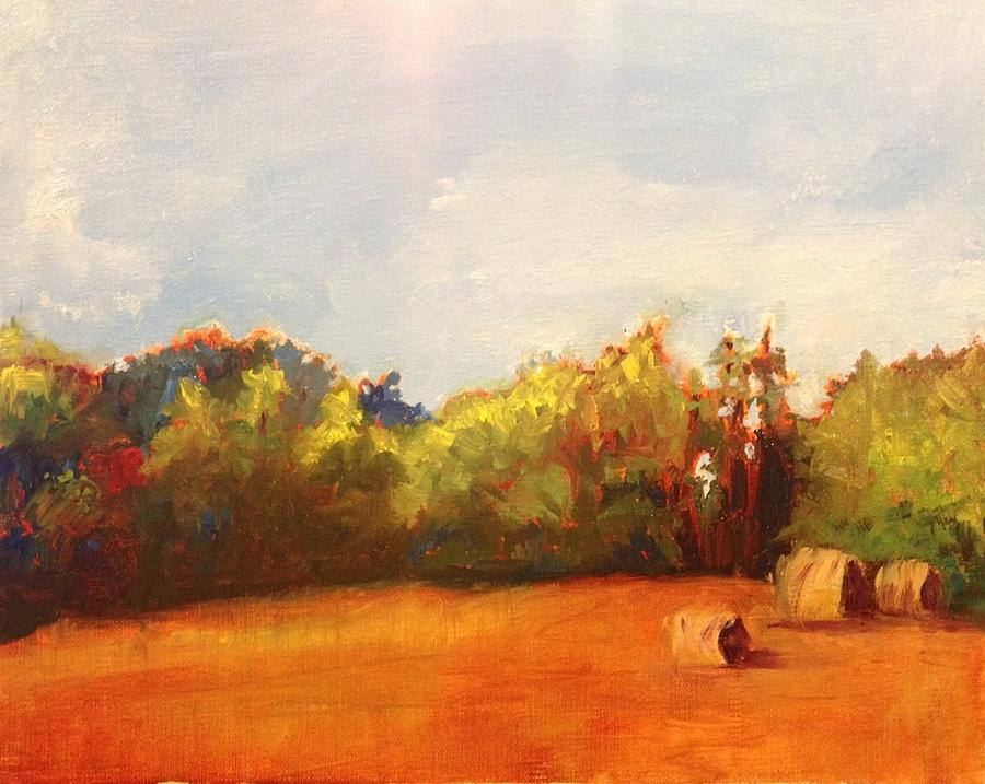Hay Bales Painting - Make Hay by Jenell Richards