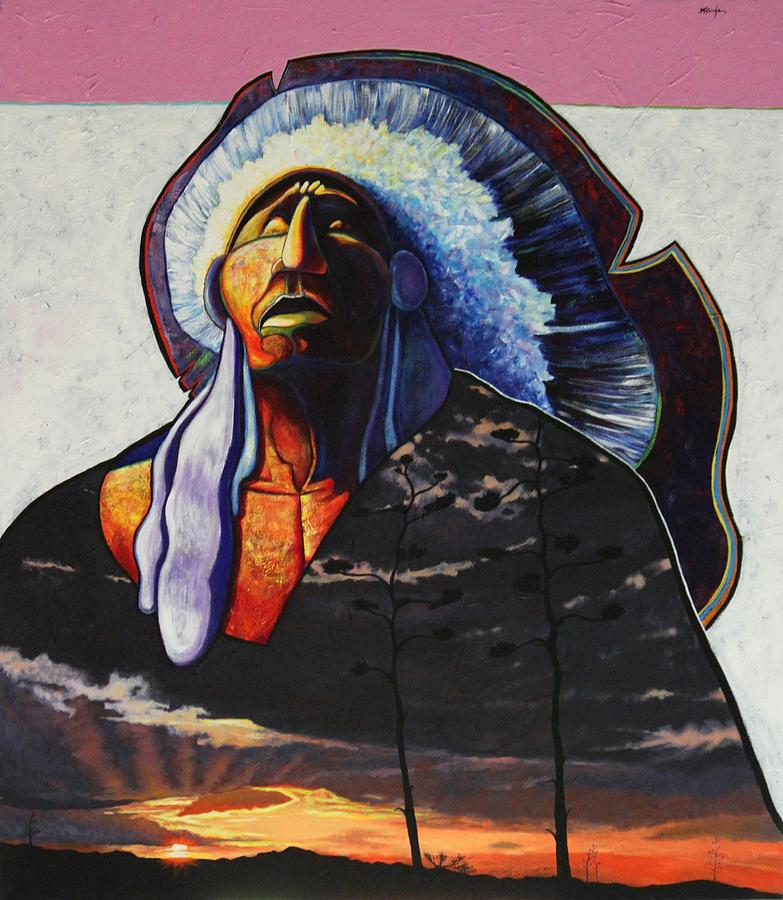 Native American Painting - Make Me Worthy by Joe  Triano