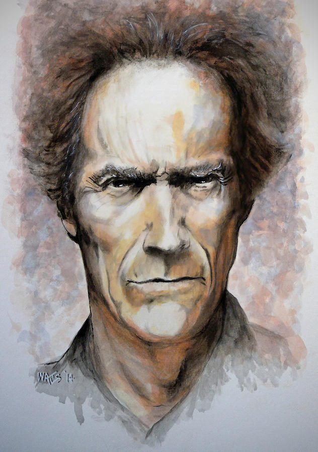 Actor Painting - Make My Day by William Walts