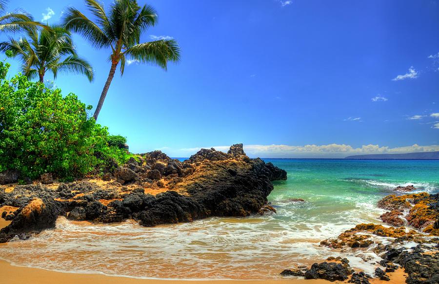 Makena Photograph - Makena Secret Cove Paako Beach by Kelly Wade
