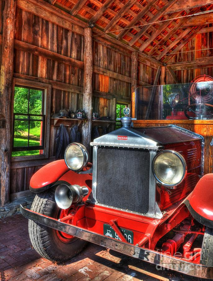 Fire Trucks Photograph - Makers Mark Firehouse 2 by Mel Steinhauer