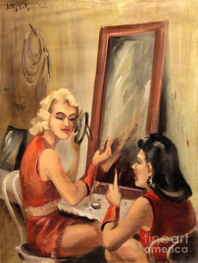 Makeup Time 1940 by Art By Tolpo Collection