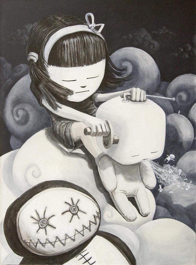 Stuffed Toy Painting - Making Babies by Konrad Geel
