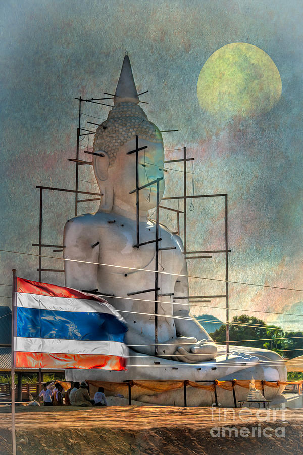 Hdr Photograph - Making Buddha by Adrian Evans