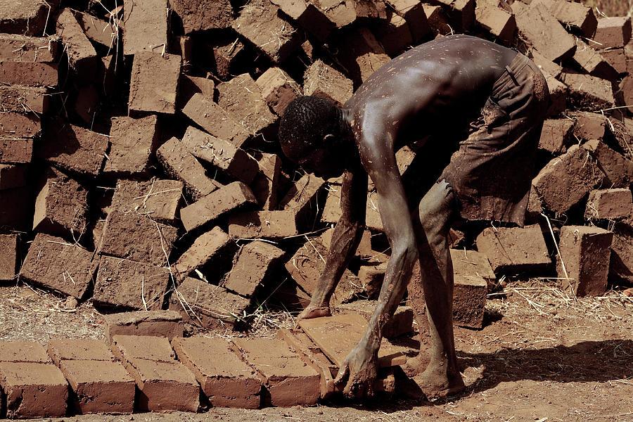Brick Photograph - Making Mud Bricks by Mauro Fermariello/science Photo Library