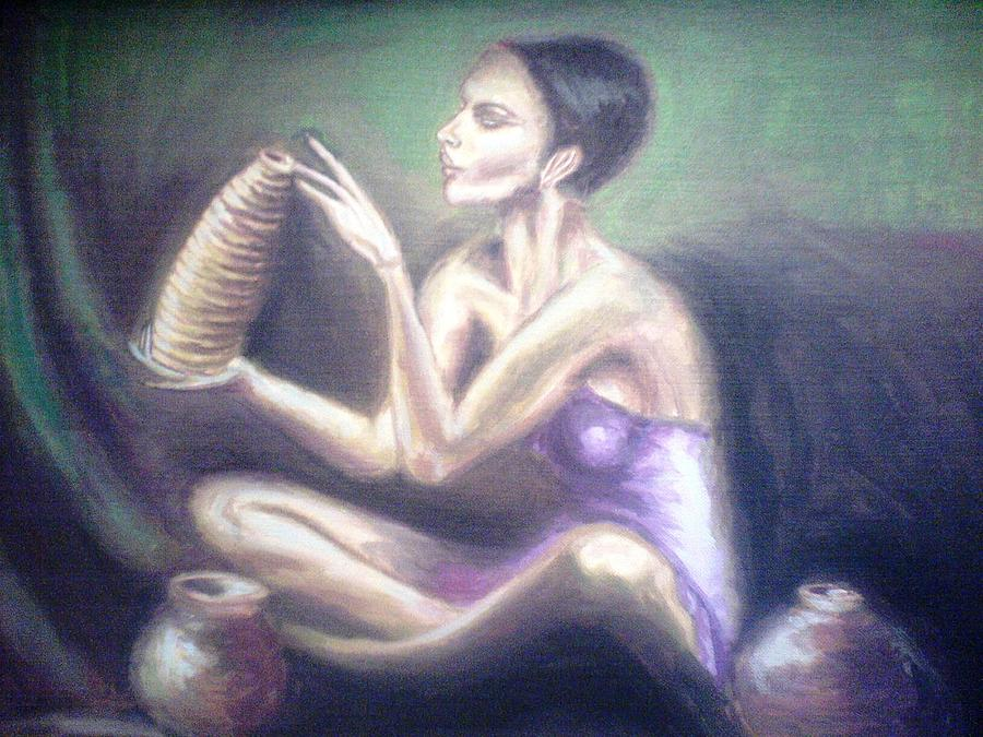 Making Pots Painting by Wedam Abassey