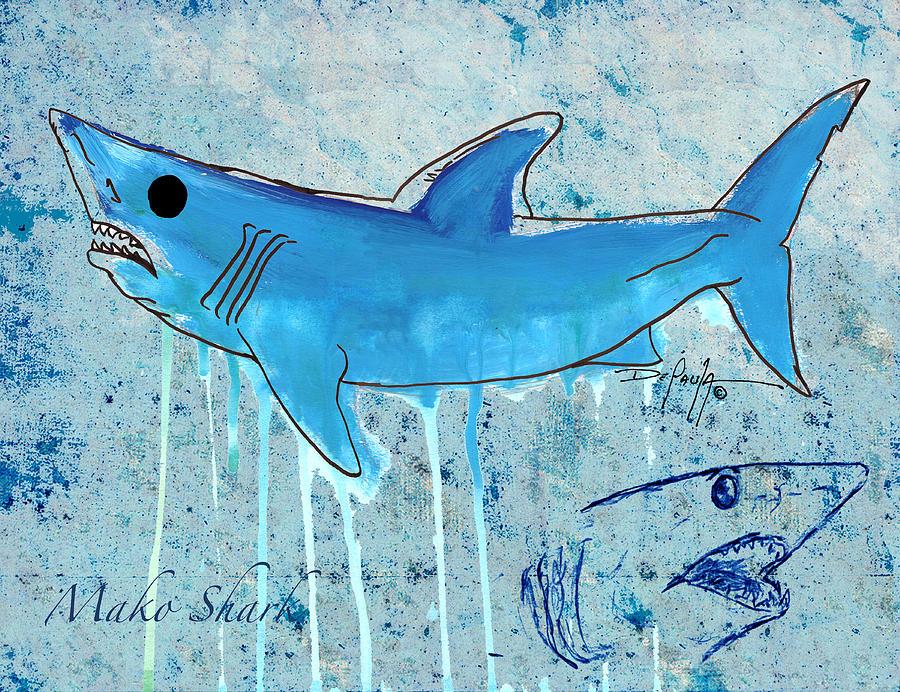 Mako Shark Painting - Mako Shark by William Depaula