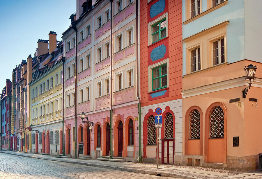 Malarska Street At Old Town In Wroclaw Photograph by Witold Skrypczak