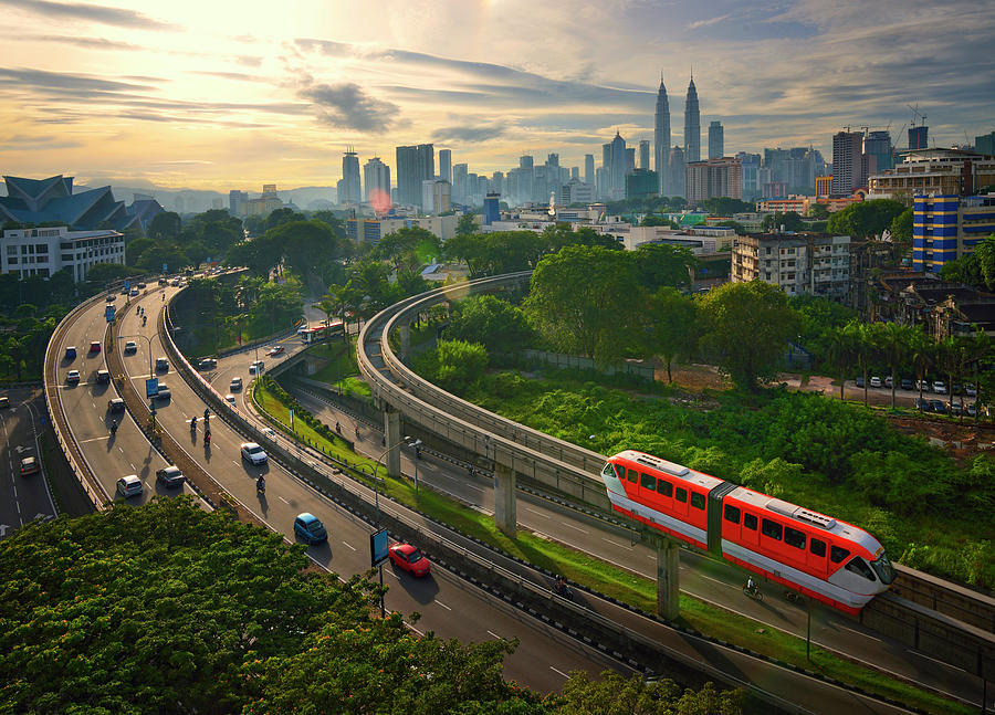 Malaysia - Kuala Lumpur City Photograph by By Toonman