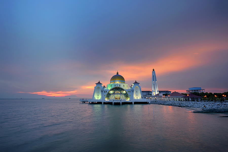 Malaysia - The Straits Mosque, Malacca Photograph by By Toonman