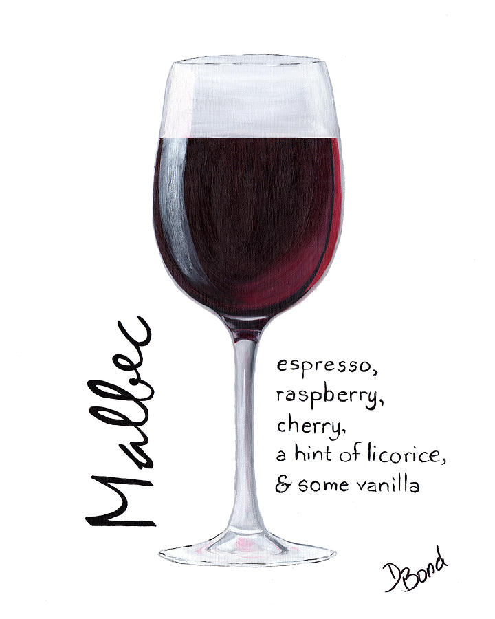 Wine Painting - Malbec by Debi Bond