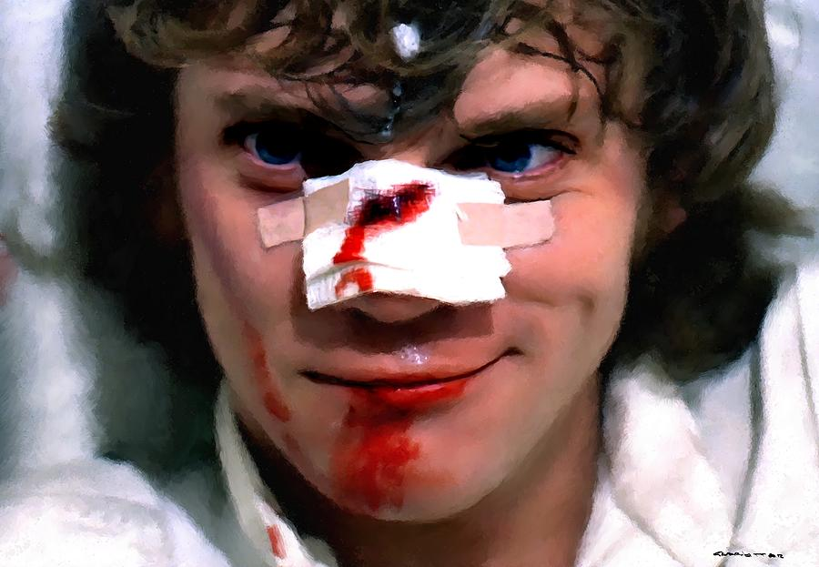 Alex Digital Art - Malcolm McDowell as Alex in the film Clockwork Orange by Stanley Kubrick 1971 by Gabriel T Toro