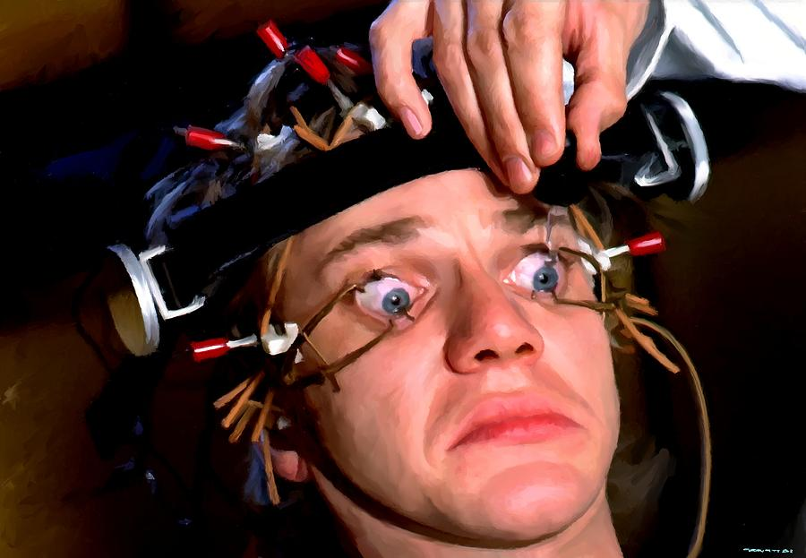 Malcolm Mcdowell Digital Art - Malcolm McDowell as Alex in the film Clockwork Orange by Gabriel T Toro
