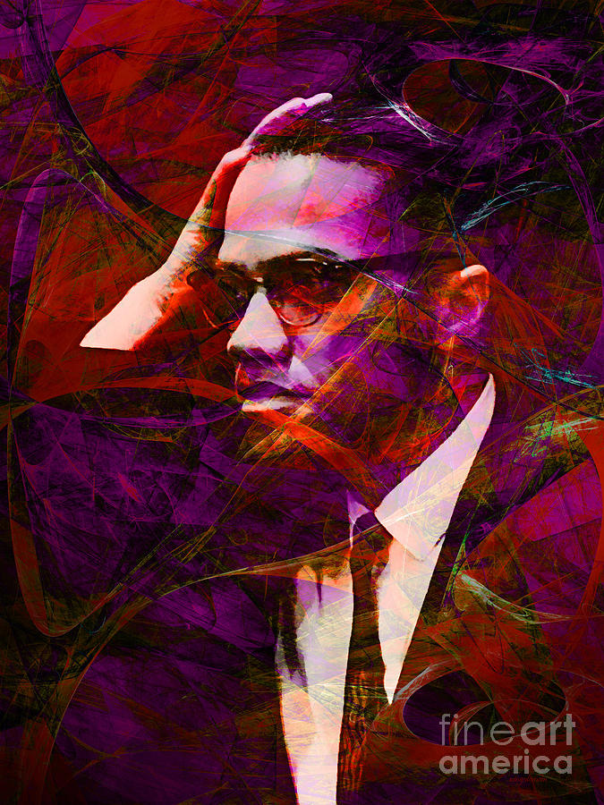 Celebrity Photograph - Malcolm X 20140105m28 by Wingsdomain Art and Photography