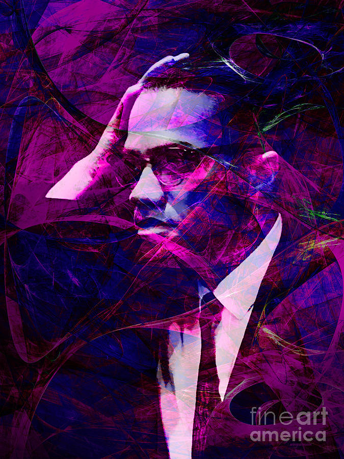 Celebrity Photograph - Malcolm X 20140105m88 by Wingsdomain Art and Photography