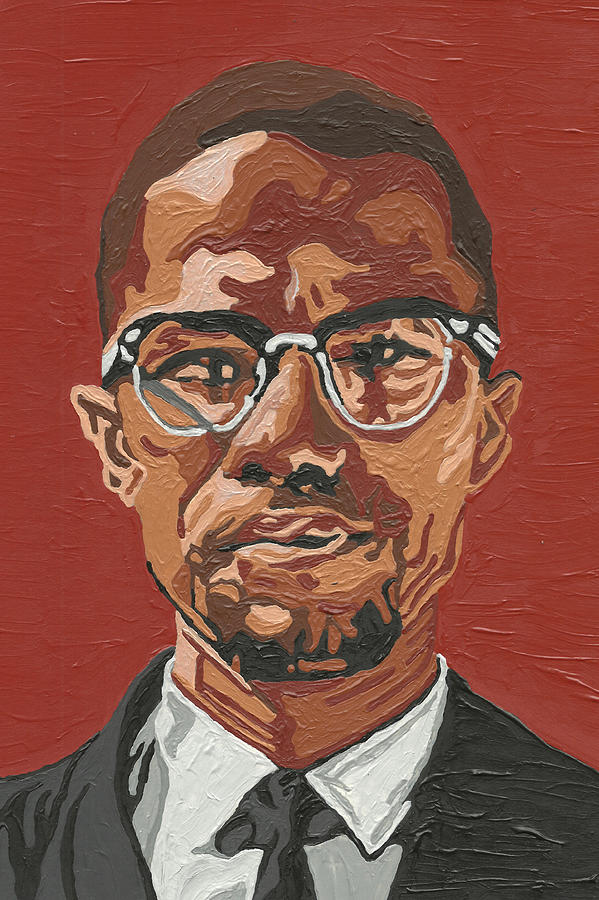 Malcolm X Painting - Malcolm X by Rachel Natalie Rawlins