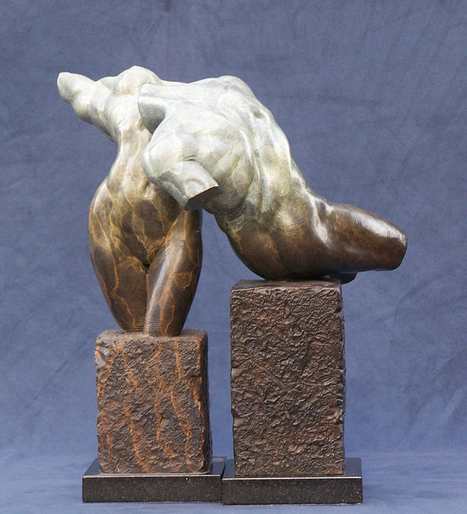 Nude Sculpture - Male And Female Torso Fragements by Karl Sanders