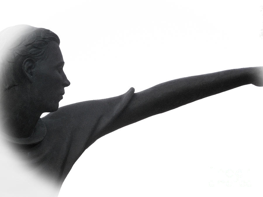 Sculptures Photograph - Male Educator Reaching Out Two by Tina M Wenger