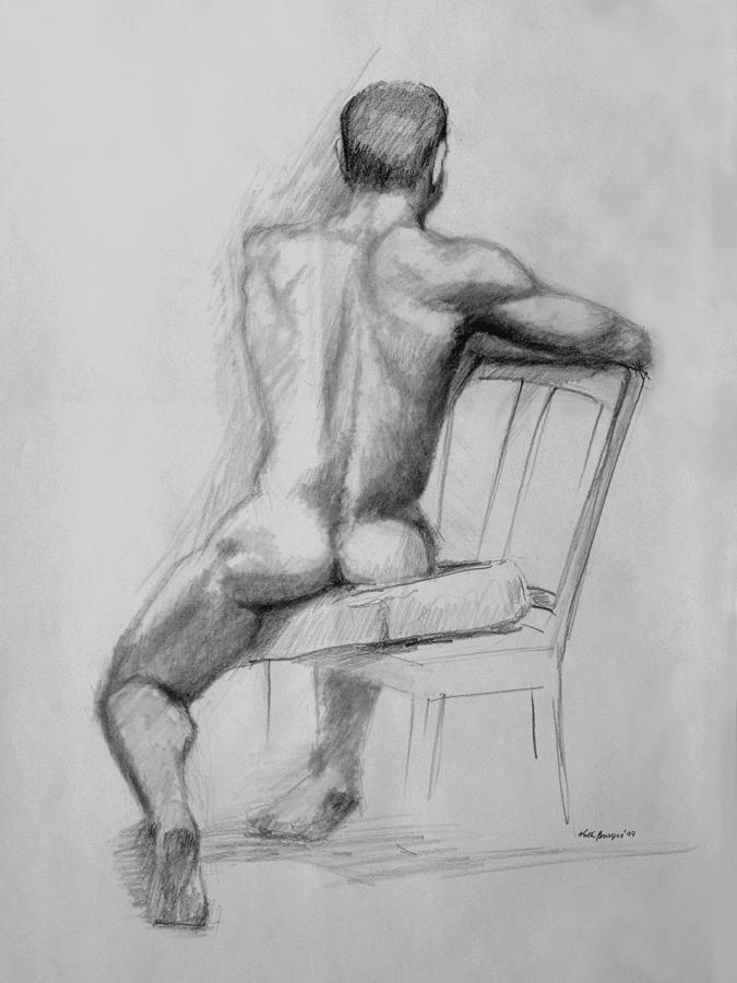 Art drawing figure male nude