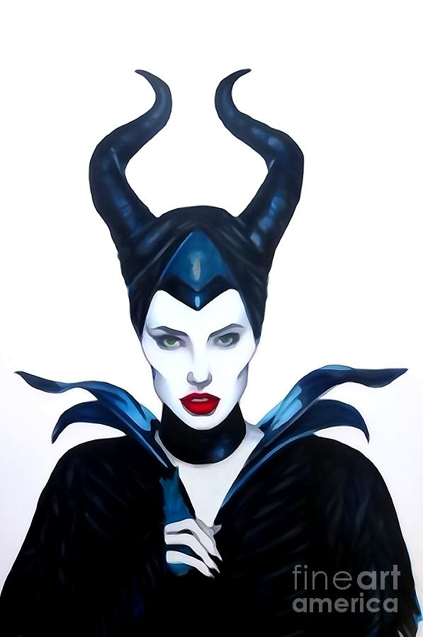 Justin Moore Digital Art - Maleficent Watercolor by Justin Moore