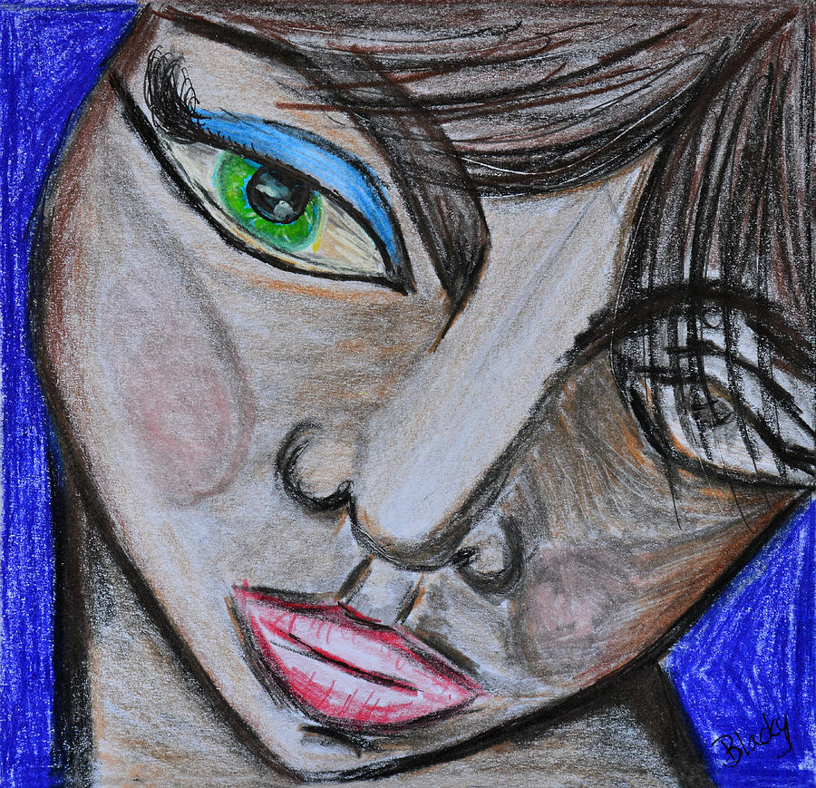 Emotion Mixed Media - Malevolence by Donna Blackhall