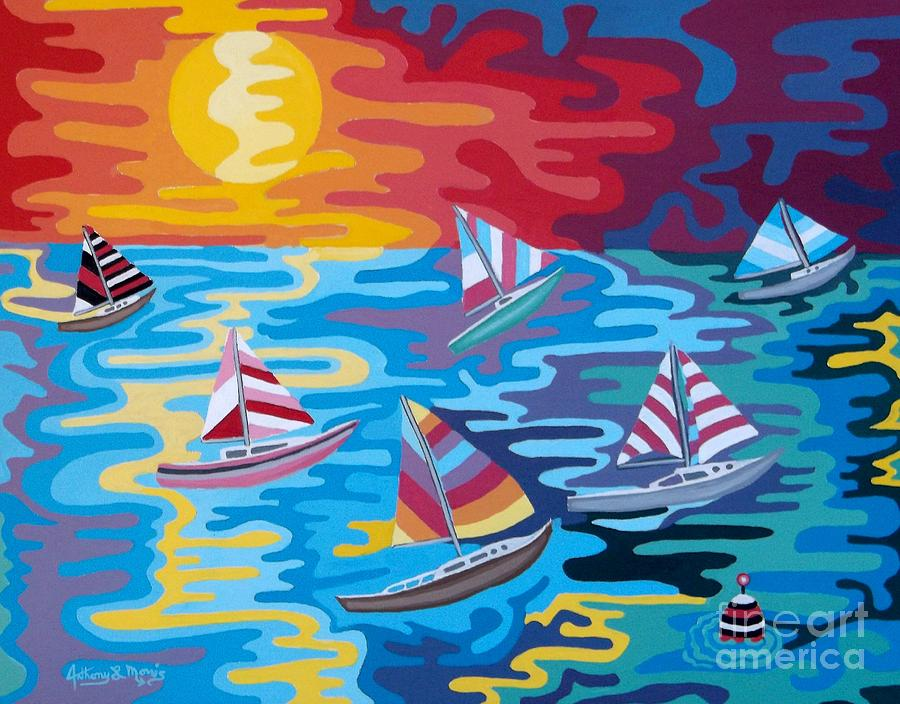 Boats Painting - Malibu by Anthony Morris