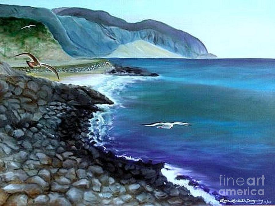 Malibu Beach Painting - Malibu Beach by Lora Duguay