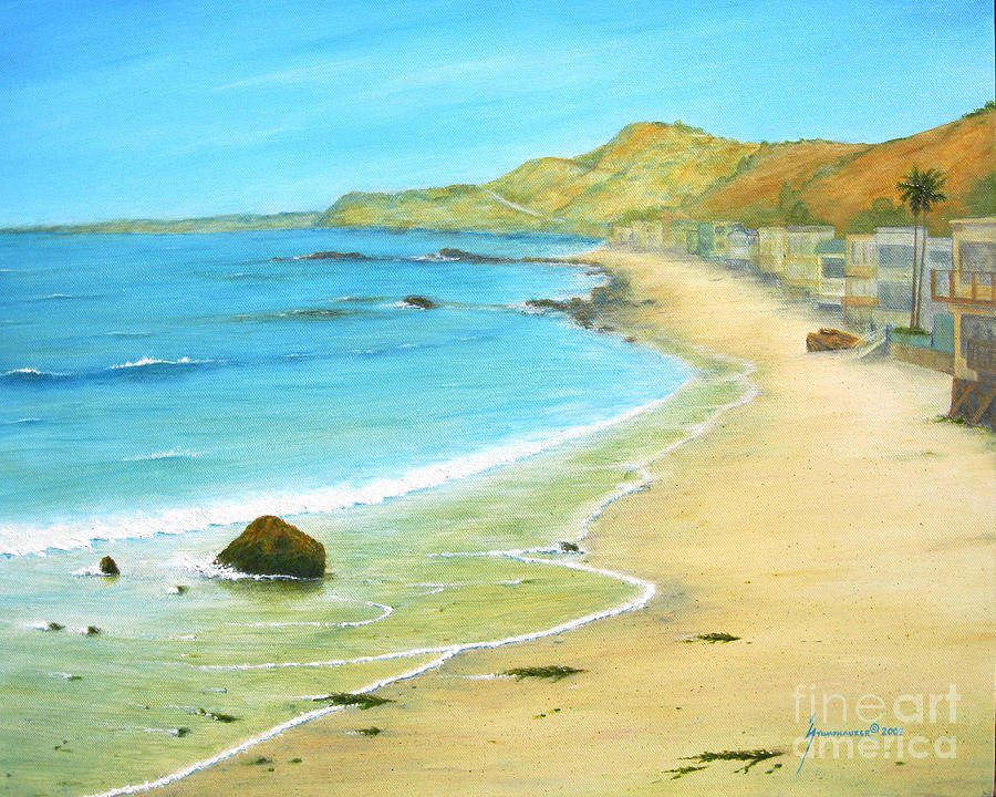 Malibu Painting - Malibu Road by Jerome Stumphauzer