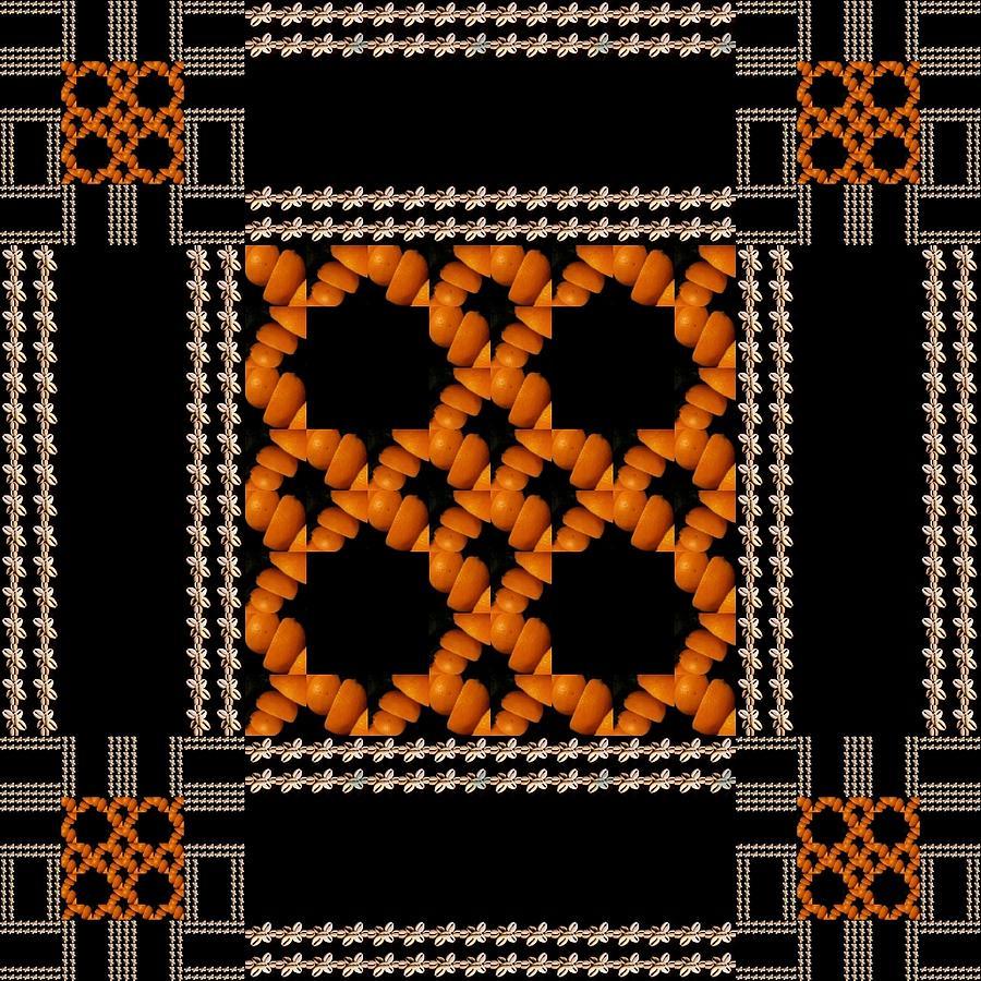 Malila E Shells Cowrie By Orange Art Photograph by Boubakar Toure
