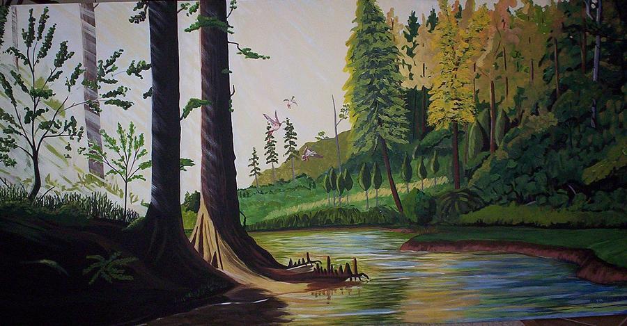 Water Fowl Painting - Mallard Retreat by Otis L Stanley