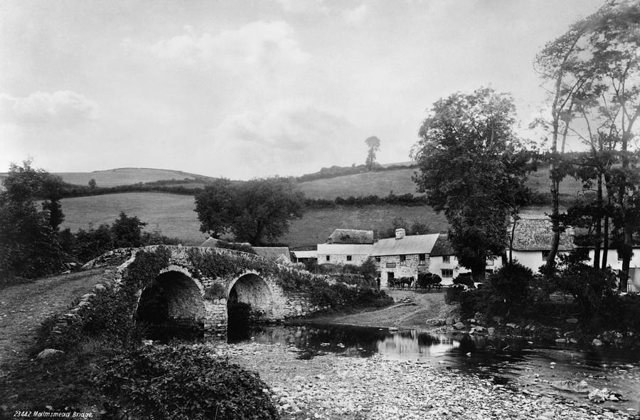 1890s Photograph - Malmsmead Bridge, C1900 by Granger