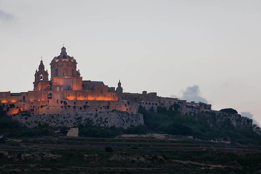 Malta, Dusk On City Of Mdina Photograph by Studio Box