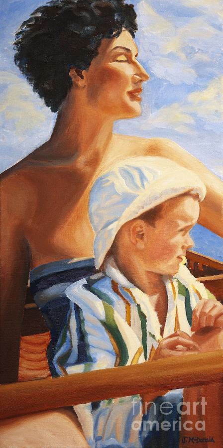 Portrait Painting - Mama Goddess by Janet McDonald
