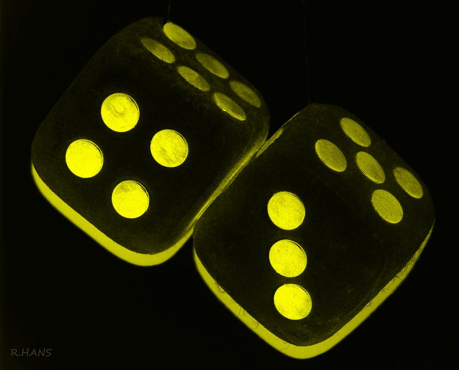 Mama S Fuzzy Dice In Yellow Photograph By Rob Hans