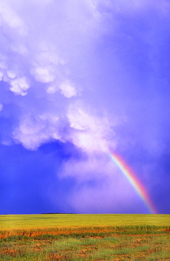 Rainbow Photograph - Mammatus Rainbow Of New Mexico by Jason Politte