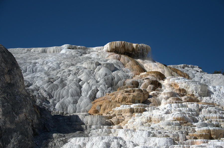 Blue Photograph - Mammoth Hot Springs 2 by Frank Madia