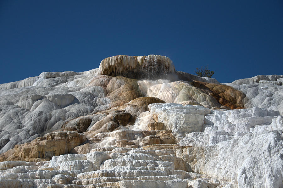 Blue Photograph - Mammoth Hotsprings 4 by Frank Madia