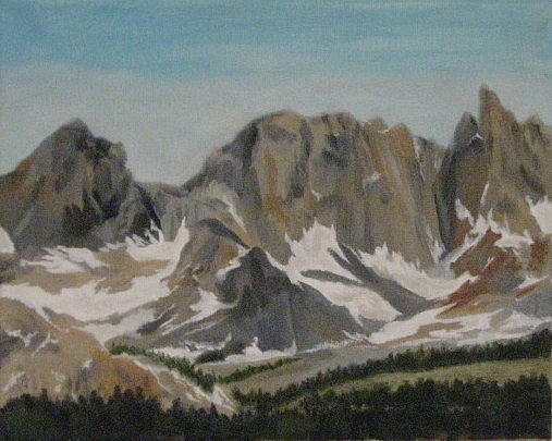 Mammoth Mountain Painting - Mammoth Minarets by Terry Sonntag