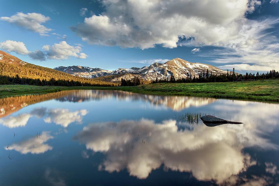 Mammoth Peak Reflection Photograph by Tom Grubbe