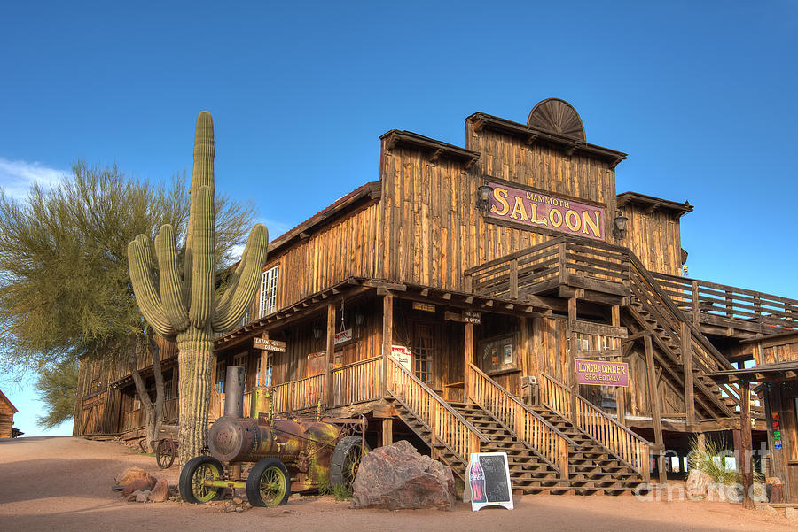 Mammoth Photograph - Mammoth Saloon by Eddie Yerkish