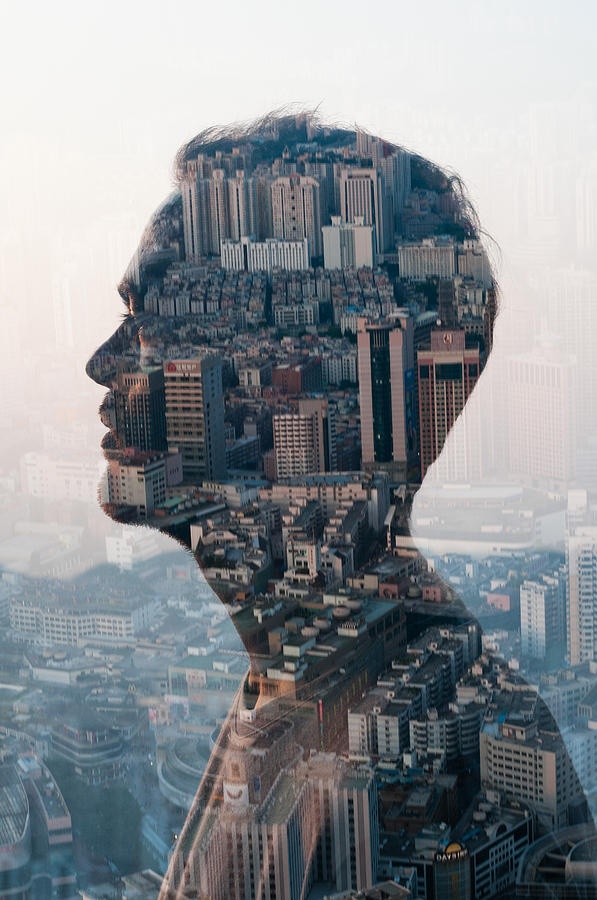 Man And Cityscape,double Exposure Photograph by Jasper James