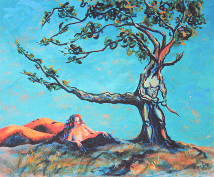 Man And Woman Painting - Man And Woman Of The Earth by Asha Carolyn Young