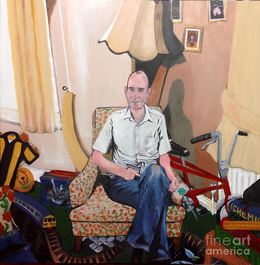 Portrait Painting - Man At 50... by Michelle Deyna-Hayward
