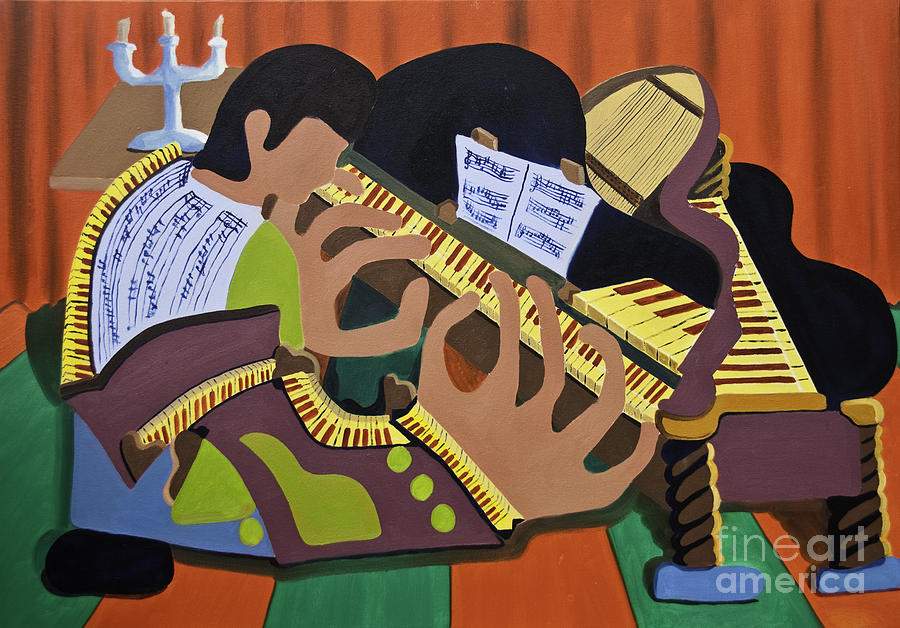 Piano Painting - The Pianist by James Lavott