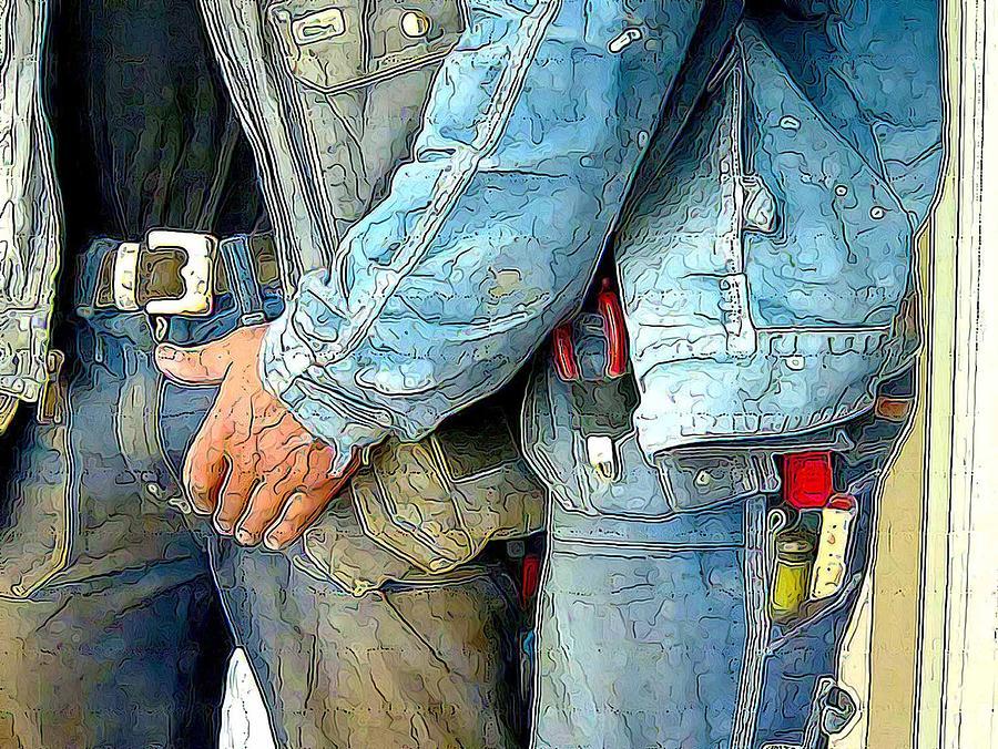 Bulge Digital Art - Man At Work by Bob Bienpensant