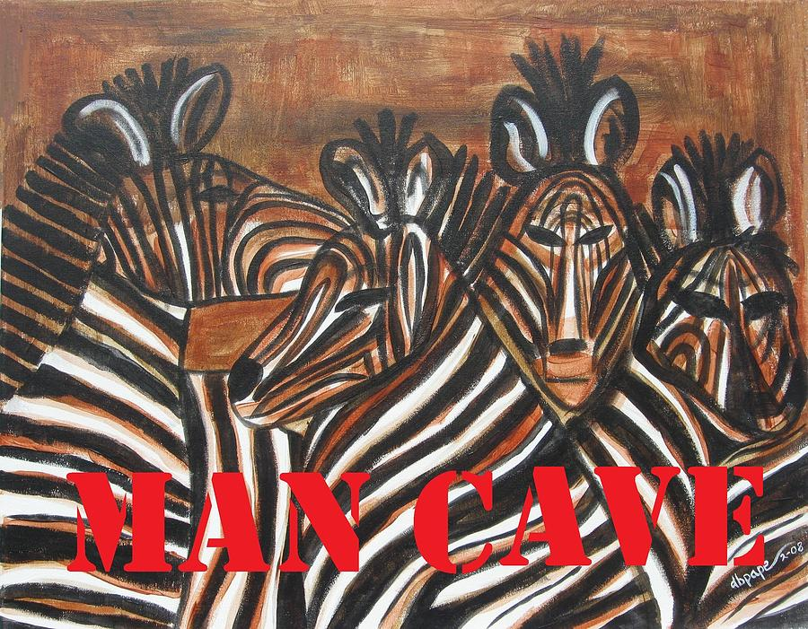 Bar Decor Painting - Man Cave by Diane Pape