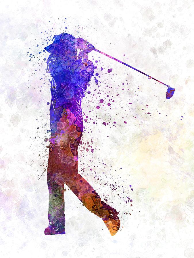 Golf Swing Paintings Fine Art America