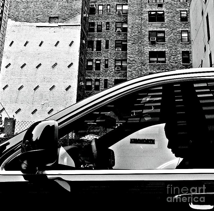 Man Photograph - Man In Car - Scenes From A Big City by Miriam Danar