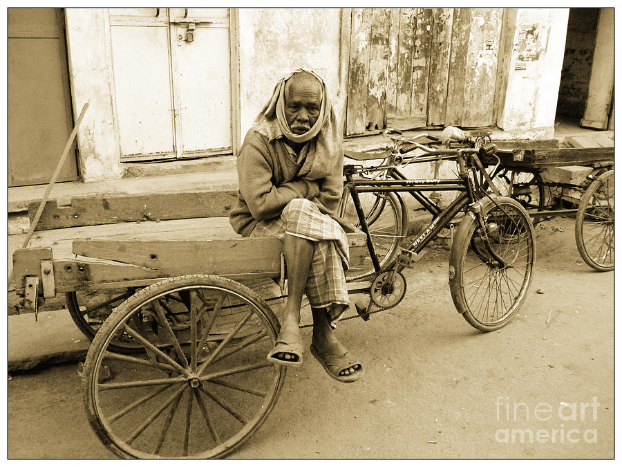 Man Photograph - Man In India by Sophie Vigneault